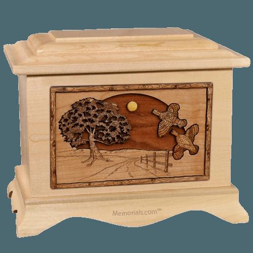 Quail Maple Cremation Urn