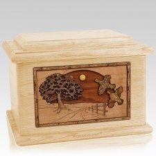 Quail Maple Memory Chest Cremation Urn