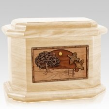 Quail Maple Octagon Cremation Urn