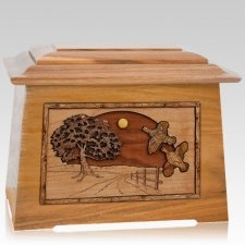 Quail Oak Aristocrat Cremation Urn