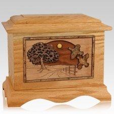 Quail Oak Cremation Urn