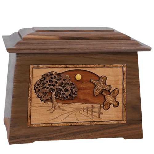 Quail Walnut Aristocrat Cremation Urn