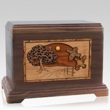 Quail Walnut Hampton Cremation Urn