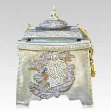 Quan Yin Ceramic Cremation Urn
