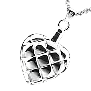 Quilted Heart Cremation Jewelry