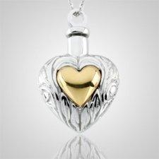 Dual Heart Keepsake Pendant