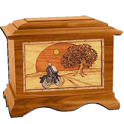 Riding Home Mahogany Cremation Urn for Two