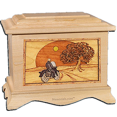 Riding Home Maple Cremation Urn for Two