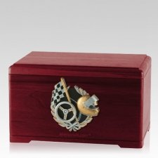 Racecar Fan Rosewood Cremation Urn