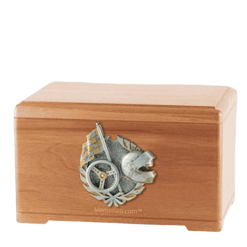 Racing Fan Light Cherry Cremation Urn
