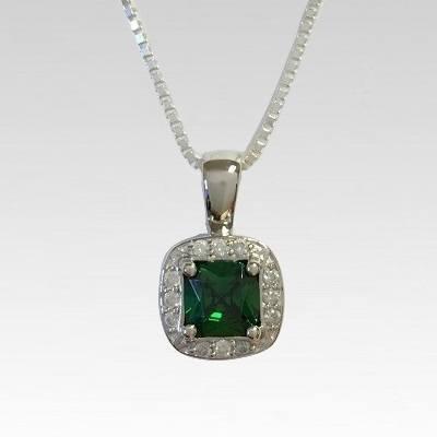 Emerald Stone Cremation Necklace