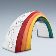 Rainbow Bridge Metal Pet Urn