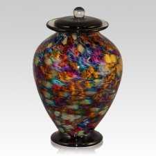 Rainbow Dream Glass Urn