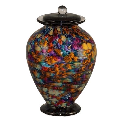 Rainbow Dream Glass Urn