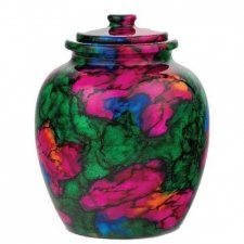 Rainbow Legacy Marble Cremation Urn
