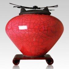Raku Red Multi Family Cremation Urn