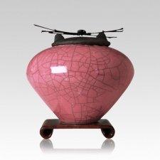 Raku Rose Medium Cremation Urn
