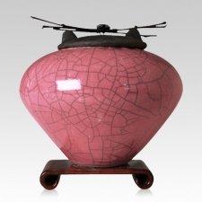 Raku Rose Extra Large Cremation Urn