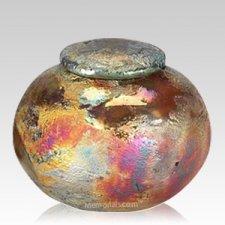 Raku Keepsake Cremation Urn