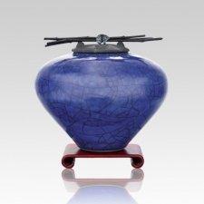 Raku Lapis Medium Cremation Urn