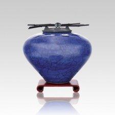 Raku Lapis Small Cremation Urn