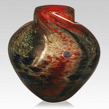 Raku Sky Glass Cremation Urn