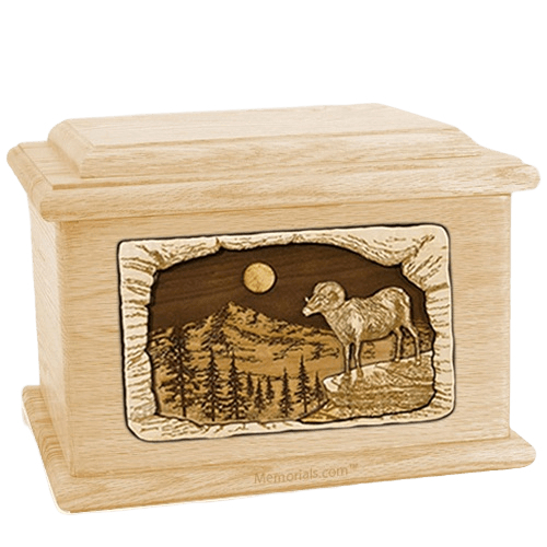Ram Maple Memory Chest Cremation Urn