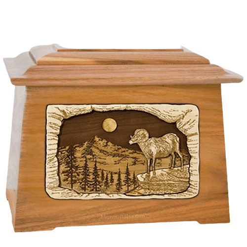 Ram Oak Aristocrat Cremation Urn