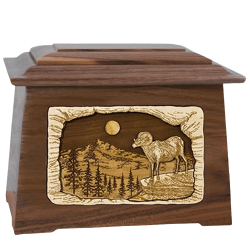 Ram Walnut Aristocrat Cremation Urn