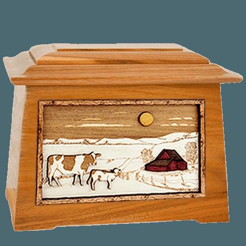 Ranch Mahogany Aristocrat Cremation Urn