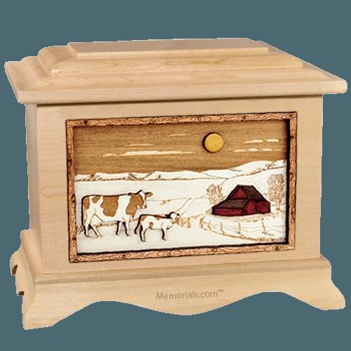 Ranch Maple Cremation Urn