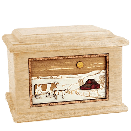 Ranch Maple Memory Chest Cremation Urn