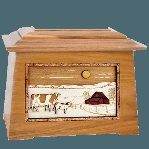 Ranch Oak Aristocrat Cremation Urn