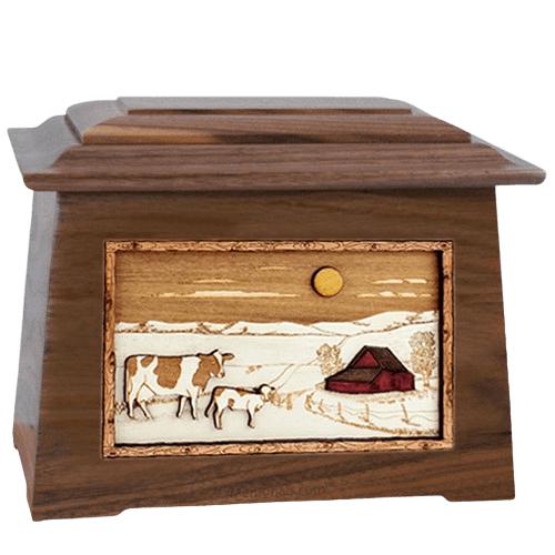 Ranch Walnut Aristocrat Cremation Urn