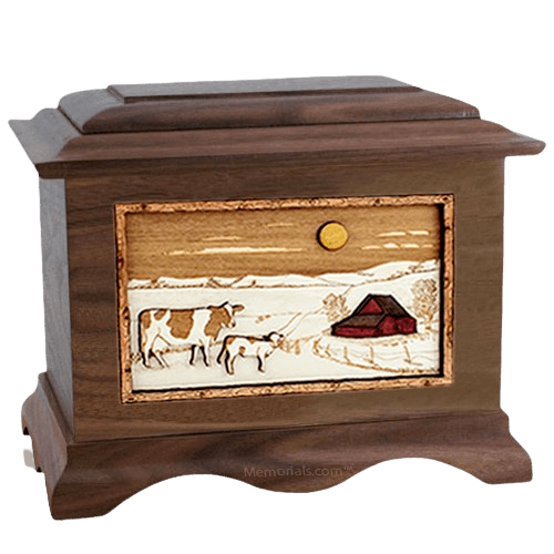 Ranch Walnut Cremation Urn