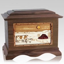 Ranch Wood Cremation Urns