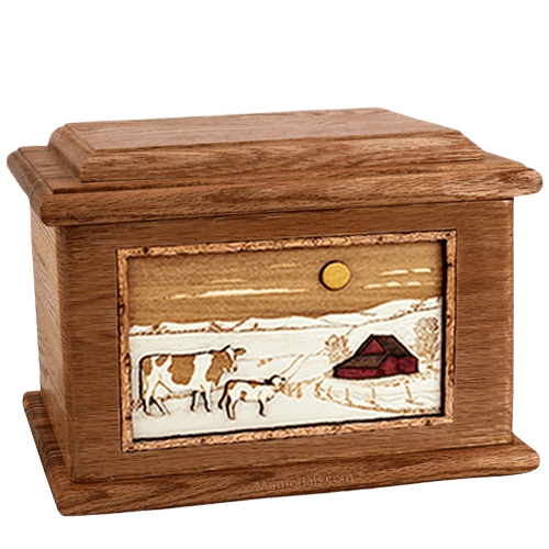 Ranch Walnut Memory Chest Cremation Urn