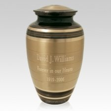Rare Striped Cremation Urn