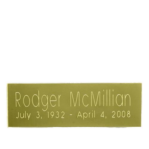 Rectangle Urn Engraving Plate