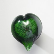 Recycled Heart Glass Cremation Keepsake
