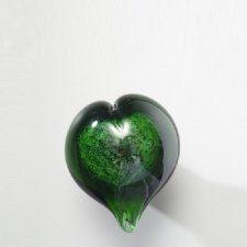 Recycled Heart Small Glass Cremation Keepsake
