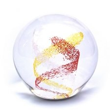 Red & Gold Swirl Memory Glass Keepsakes