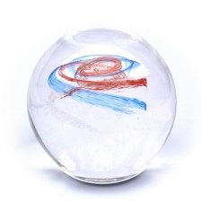 Red & Sky Blue Galaxy Memory Glass Keepsakes