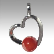 Red Amore Cremation Ash Pendant