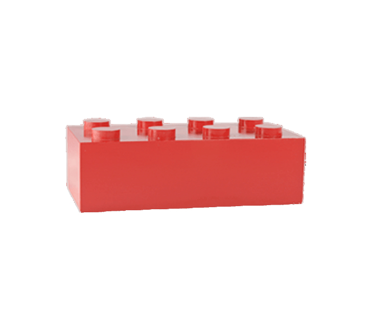Red Block Cremation Urn