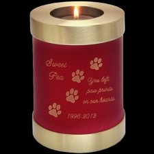 Red Candle Pet Cremation Urn