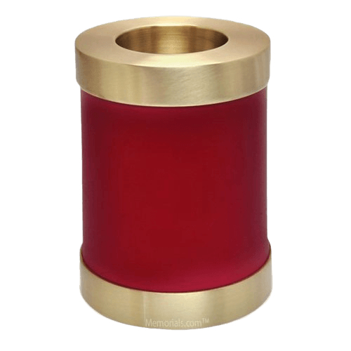 Red Child Candle Cremation Urn
