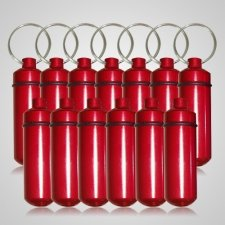 Red Cremation Discount Keychains