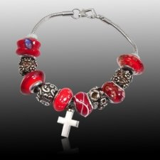 Red Cross Cremation Bracelet