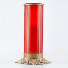 Red Cross Filigree Memorial Candle